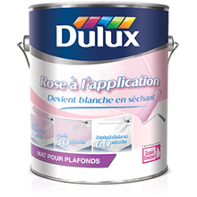 "Dulux pour plafonds ""Rose à l'application"""